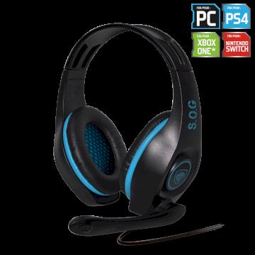 Casque Micro  PRO-H5 bleu double Jack *Spirit Of Gamer MIC-G715BL*