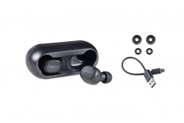 Mini oreillettes Bluetooth v5.0  noir IPX4 *DCU 34152000 *