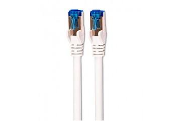 Cable réseau CAT 6A Cable S/STP 2M  boite  bleu/blanc * DCU 30801230 *