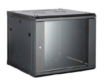 Coffret 19 6U noir prof. 450 mm livré monté * 8062296 *