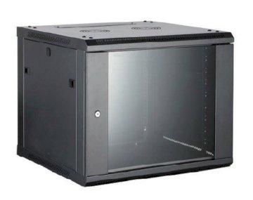 Coffret 19 9U noir prof. 450 mm livré monté * 8062261 *