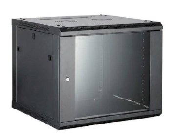 Coffret 19 12U noir prof. 450 mm livré monté * 8062268 *