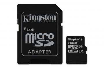 Carte Mémoire micro SD 16Go avec adaptateur SD* Kingston SDCS/16GB *