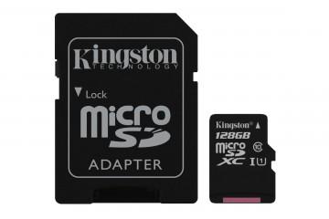 Carte Mémoire micro SD 128Go avec adaptateur SD* Kingston SDCS/128GB *