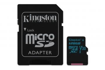 Kingston Canvas Go! 128Go microSDXC UHS-I +adaptateur SD* Kingston SDCG2/128GB *
