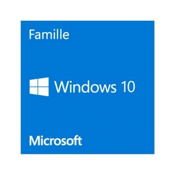 Windows 10 Home - Licence - 1 licence - OEM - Sticker 64-bit  francais sans DVD