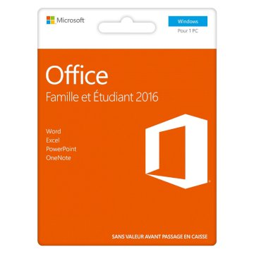 MAIL Microsoft Office Home Student 2016 (Word,Excel,PowerPoint,Onenote)