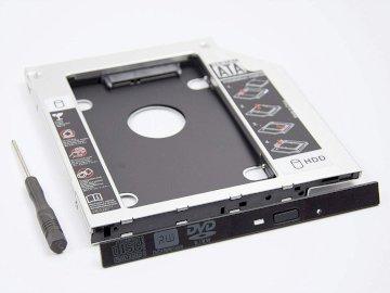 Support Adaptateur Caddy Disque Baie Lecteur Optique Dur 12.7 mm SATA