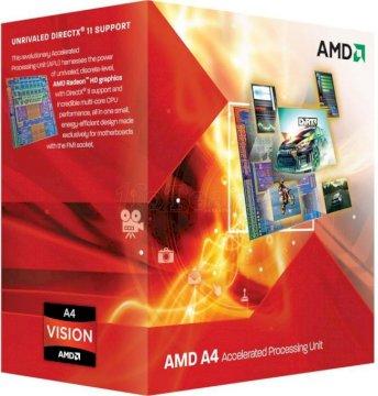 Processeur AMD A4-3400 2.7GHZ SKT FM1 L2 1MB 65W BOX