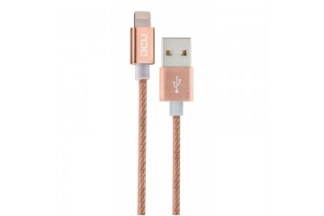 Cable USB - Lightning ( Iphone 5 et 6 ) boite gold  cable 1M * DCU 34101210 *