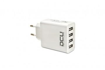 Chargeur USB Bloc secteur 5V 4 x USB boite ( 2 x2.4A + 2 x2.4A) * DCU 37300500 *