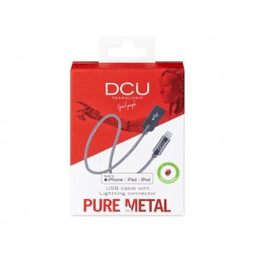 Cable USB - Lightning boite silver  cable pure metal 1M * DCU 34101260 *