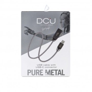 Cable USB - USB Type  C boite silver  cable pure metal 1M * DCU 30402015 *