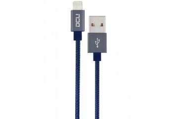 Cable USB - Lightning ( Iphone 5 et 6 ) boite bleu  alu cable 2M* DCU 34101250 *