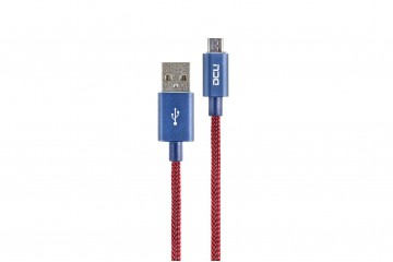 Cable USB - Micro USB rouge boite  cable 2M * DCU 30401285 *