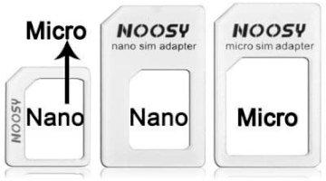 Adaptateur SIM/ Micro SIM/ Nano SIM