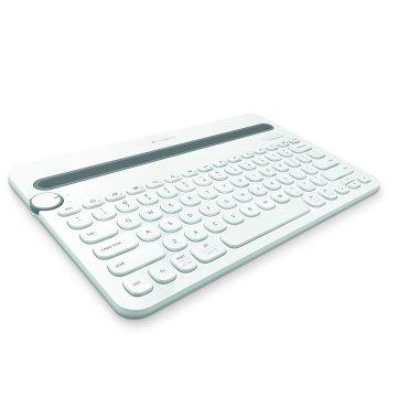 Logitech K480 - Clavier Universel pour tablette - Bluetooth - francais - blanc