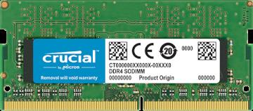 Mémoire SODIMM DDR4 -2666 8Go * Crucial CT8G4SFS8266    *