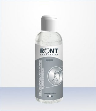 Gel hydroalcoolique 100Ml Ront Production * 9200 * Made in France
