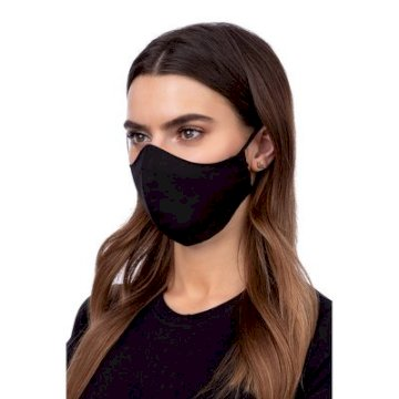 Masque de Protection profilé 100% Cotton Adulte Noir