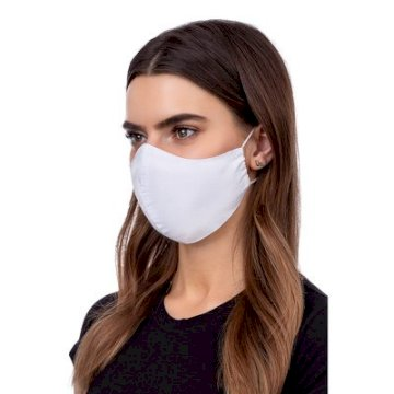 Masque de Protection profilé 100% Coton Adulte Blanc