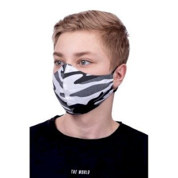 Masque de Protection profilé 100% Cotton Enfant 8 à 12 ans motif Camouflage