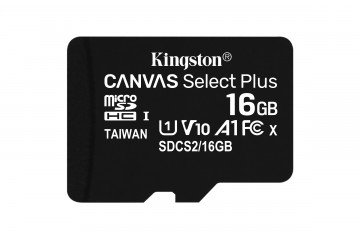 Carte Mémoire micro SD 16Go Canvas select plus +adapt SD* Kingston  SDCS2/16GB *