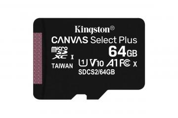 Carte Mémoire micro SD 64Go Canvas select plus +adapt SD* Kingston  SDCS2/64GB *