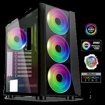 Boitier GHOST III ? A-RGB EDITION  mATX/ATX sans alim* 8005RA *