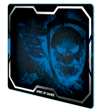 Tapis de souris Spirit Of Gamer Blue Smokey Skull - XL * SOG-PAD01XLB *