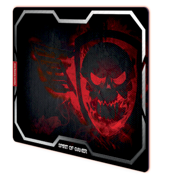 Tapis de souris Spirit Of Gamer Rouge Smokey Skull - XL * SOG-PAD01XLR *