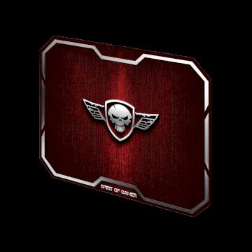 Tapis de souris Spirit Of Gamer Rouge Winged Skull - M * SOG-PAD01MR *