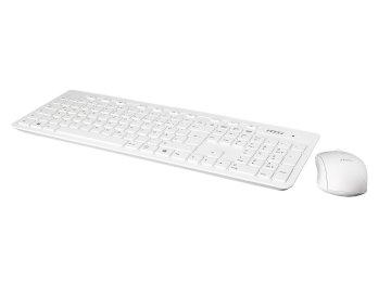 Kit clavier / souris optique sans fil MSI Blanc (OEM)