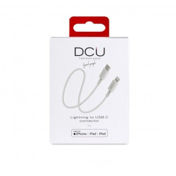 Cable USB-C -  Lightning Blanc boite  cable 1M * DCU 34101300 *