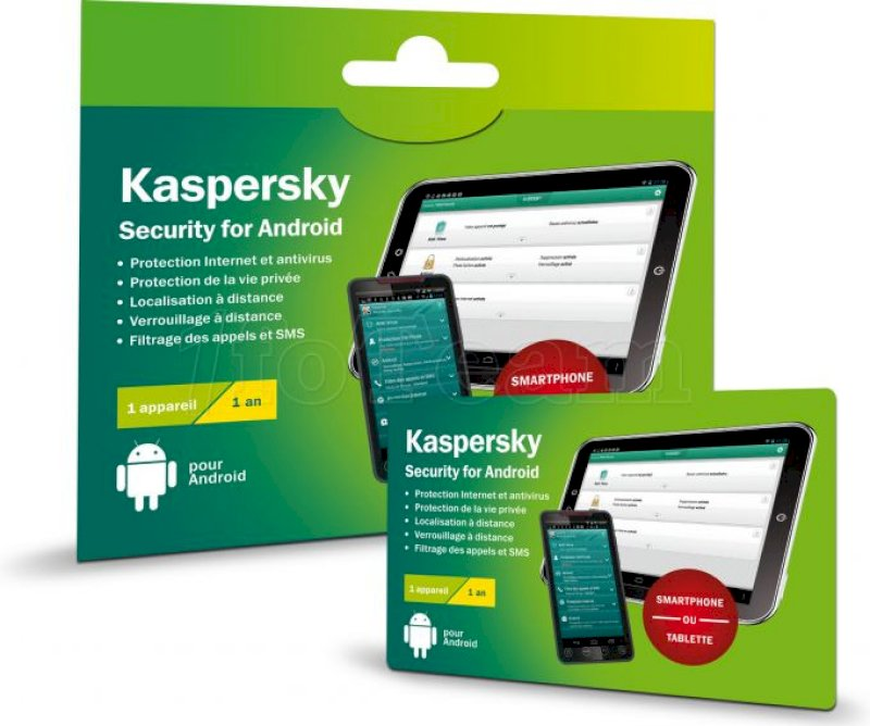 Kaspersky Internet Security Android (1 poste - 1 an) * KL1091FOAFS-20CO *