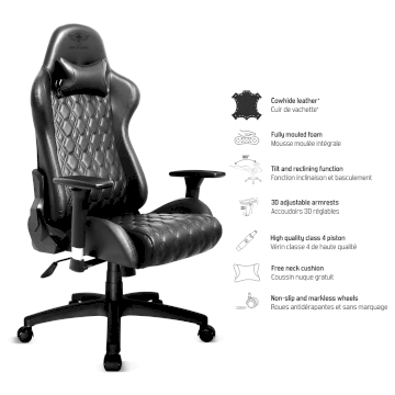 Siège Gaming Blackhawk cuir véritable  Spirit Of Gamer * SOG-GCCBK *