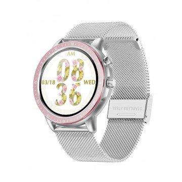 Smartwatch Métal  bluetooth Argenté 23 Modes Sportifs  * DCU 34157050 *