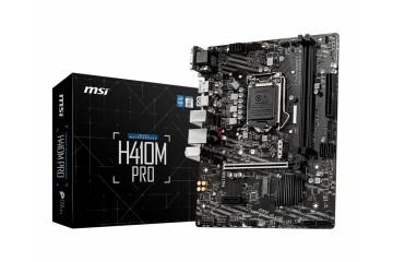 Msi H410M PRO mATX LGA1200 USB3.2 HDMI  DVI H410  DDR4 m.2