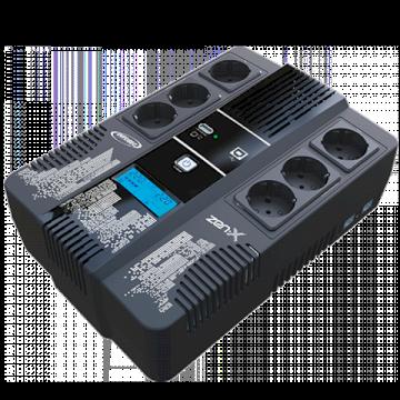 Onduleur Line Inter Zen-x 600 600VA 6 prises FR dont 3 Ondulées *Infosec 66070*