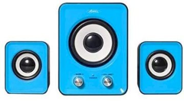 HAUTS PARLEURS 2.1 Stereo SoundPhonic 6 Watts RMS Bleu *Advance SP-U803BL*